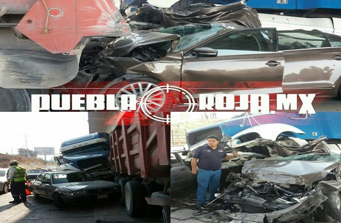 VIDEO: Sobrevive de milagro en accidente en la autopista México-Puebla