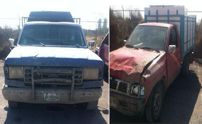Recupera la SSP vehículos usados para trasladar huachicol; hay un detenido