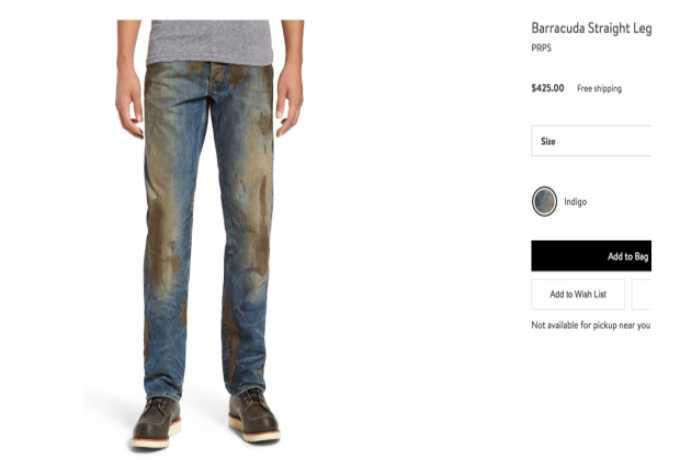 jeans sucios