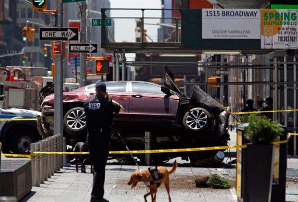 El incidente en Times Square. Foto: AP / Seth Wenig