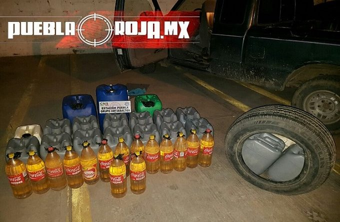 FOTOS: Transportan huachicol hasta en botellas de refresco de 2 litros