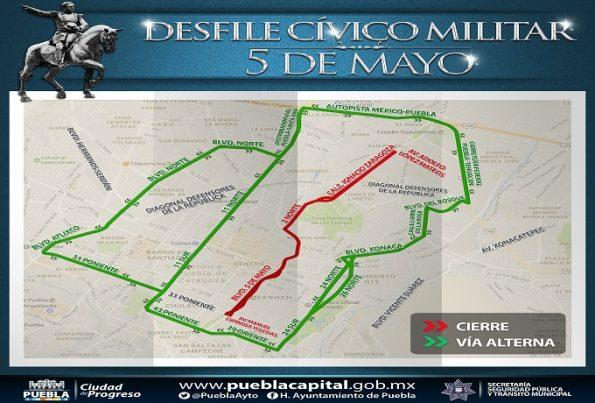 ruta del desfile