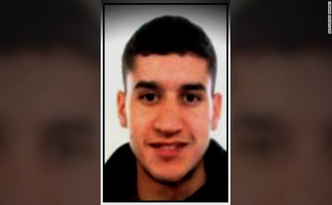 Younes Abouyaaqoub, sospechoso del atentado en Barcelona.