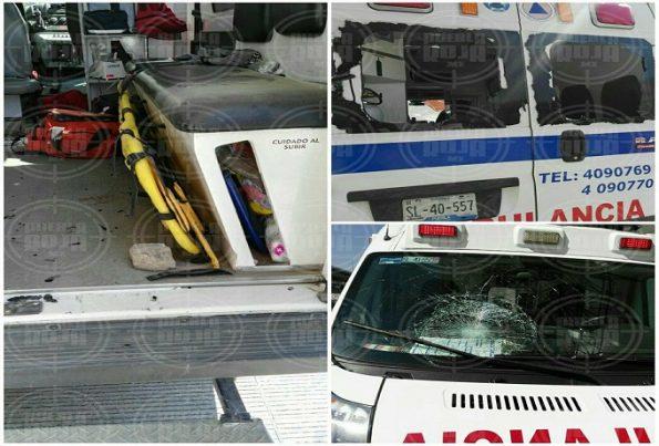 ambulancia dañada