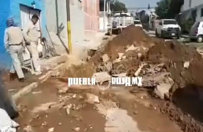 VIDEO: Hallan huachi-túnel a unos metros de la Presidencia Auxiliar de Xochimehuacán