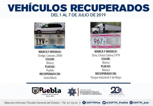 VEHÍCULOS CON REPORTE DE ROBO