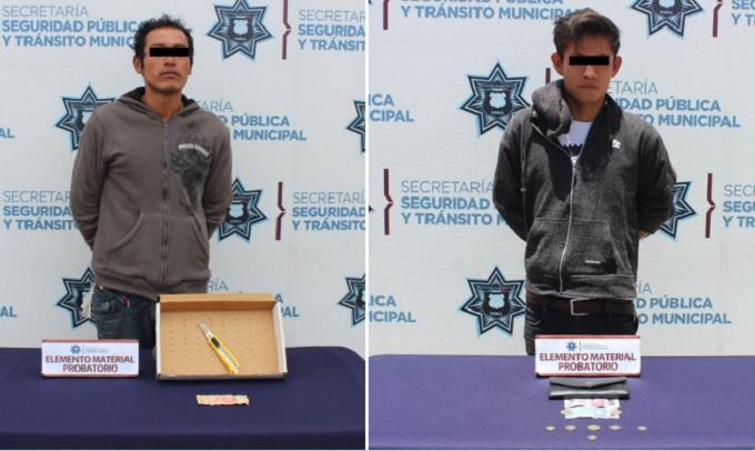 detenidos ladrones
