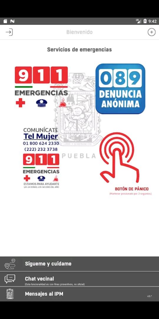 App Mujer Segura Puebla